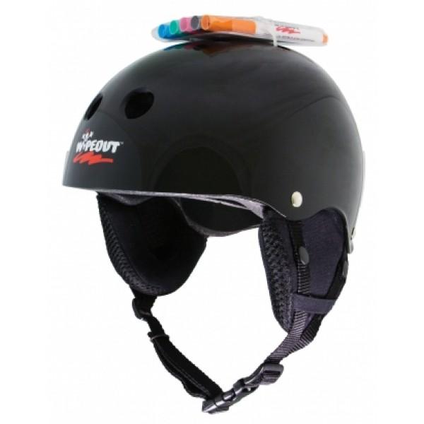 Зимний шлем защитный с фломастерами Wipeout